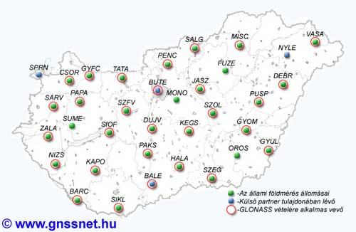 GNSSnet.hu map